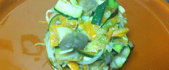 Légumes et champignons sautés