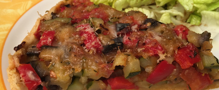 Ratatouille en quiche