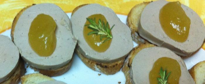 Amuse-bouche de foie et pomme