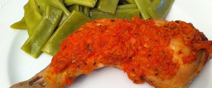 Papillote de poulet à la tomate et herbes de provence