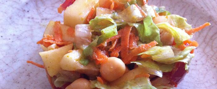 Salade fraîche de pois chiches et pomme